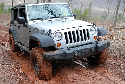 Jeff Loughlin navigates the muddy trails at Rausch Creek ORV Park